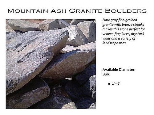 Mountain Ash Granite Boulders