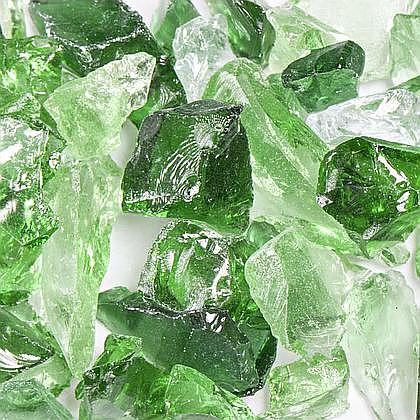 Forest Mix Fireplace Glass