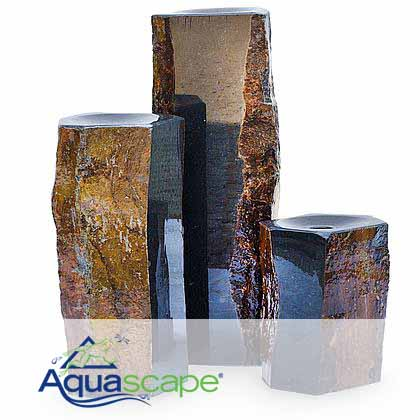 Semi-Polished Basalt Columns - Set of 3