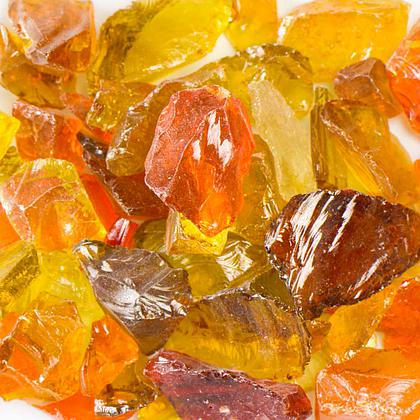 Sunshine Mix Fireplace Glass